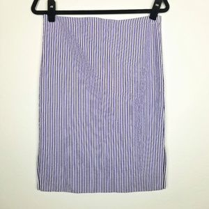 J. Crew Striped 100% Cotton Pencil Skirt